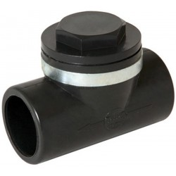 CLAPET ANTI-RETOUR PVC PRESSION - CARJ - ANTHRACITE - Ø 50 MM
