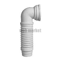 PIPE WC COUDÉE EXTENSIBLE MULTIPIPE 93 - 100 MM L 235 - 380 MM RÉF. 214-MULTIPIPE