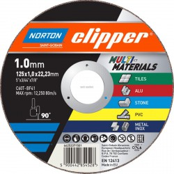 DISQUE À TRONÇONNER C60T-125X1.0X22.2-T41 NOR-CLIPPER MULTI PURP