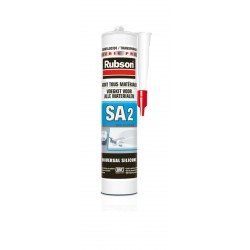 MASTIC SILICONE SANITAIRE TOUS SUPPORTS TRANSLUCIDE RUBSON SA 2 CARTOUCHE 280 ML